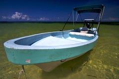 西安kaan在墨西哥和蓝色盐水湖 免版税库存图片