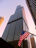 西尔斯大楼在芝加哥 库存照片