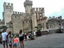西尔苗内城堡意大利 图库摄影