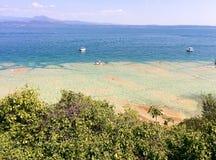 西尔苗内海滩 免版税库存照片