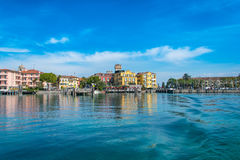 西尔苗内- Garda湖 库存图片