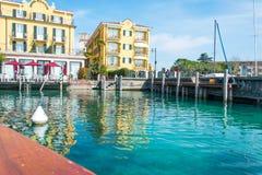 西尔苗内- Garda湖 图库摄影