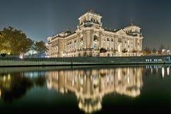 西德联邦议会在柏林,德国 图库摄影