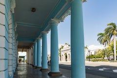 西恩富戈斯的都市历史的中心-联合国科教文组织世界遗产名录站点在古巴 免版税库存照片