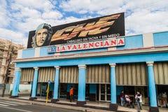西恩富戈斯,古巴- 2016年2月10日:在普拉多大道街道的宣传壁画在西恩富戈斯,古巴 它说:Che 库存图片