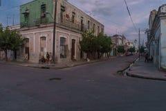 西恩富戈斯,古巴- 2016年12月31日:街道视图 免版税图库摄影