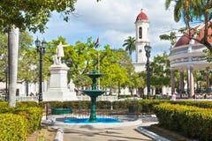 西恩富戈斯,古巴- 2016年12月17日:何塞马蒂公园 免版税库存照片