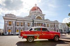 西恩富戈斯,古巴- 2016年12月17日:香港大会堂 免版税库存图片