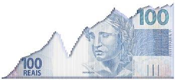 巴西成长图表 免版税库存图片
