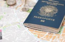 巴西护照 免版税库存图片