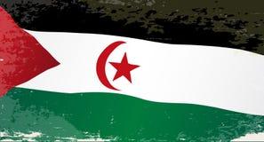西撒哈拉难看的东西旗子 库存图片