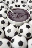 巴西文化Acai和橄榄球足球 免版税图库摄影