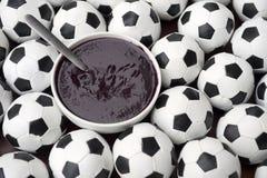巴西文化Acai和橄榄球足球 图库摄影