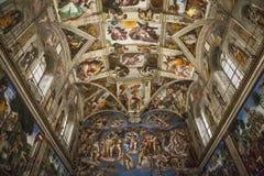 西斯廷教堂的内部和建筑细节 免版税库存图片
