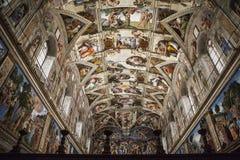 西斯廷教堂的内部和建筑细节 免版税图库摄影