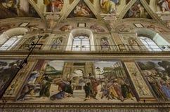 西斯廷教堂在梵蒂冈 免版税图库摄影