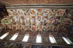 西斯廷教堂,梵蒂冈。 免版税库存照片