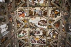西斯廷教堂,梵蒂冈 图库摄影