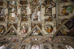 西斯廷教堂,梵蒂冈 免版税图库摄影
