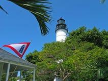 西方佛罗里达关键的灯塔 库存照片