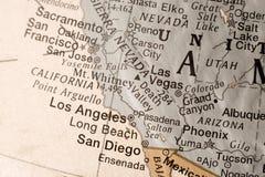 西方加利福尼亚的海岸美国 免版税库存照片