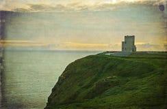 西方古老城堡海岸爱尔兰的爱尔兰语 图库摄影