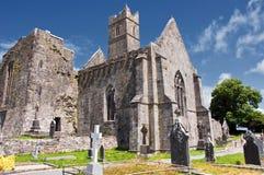 西方古老爱尔兰爱尔兰老的废墟 免版税库存图片