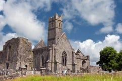西方古老爱尔兰爱尔兰老的废墟 免版税库存照片