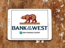 西方商标的银行 免版税库存图片