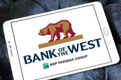 西方商标的银行 库存图片