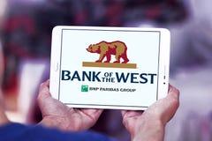 西方商标的银行 免版税库存照片