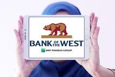 西方商标的银行 库存照片