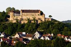 西方城堡德国南的stettenfels 免版税图库摄影