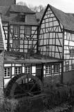 西方城市德国有历史的monschau 库存图片