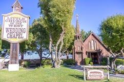 西方婚礼教堂的一点教会 库存照片