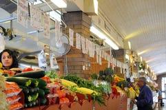 西方市场副的素食者 免版税库存照片
