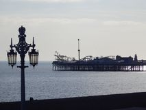 西方布赖顿的码头 图库摄影