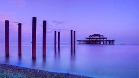 西方布赖顿的码头 库存照片