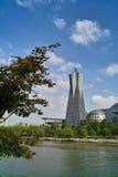 西方文化杭州湖的广场 免版税库存照片