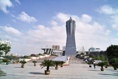 西方文化杭州湖的广场 免版税库存图片