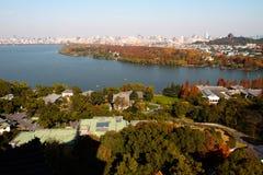 西方杭州的湖 免版税图库摄影