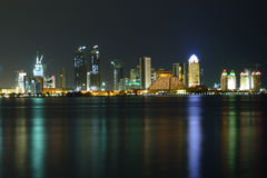 西方海湾在晚上 免版税图库摄影