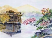 西方湖的翻译 免版税库存图片