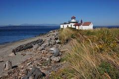 西方灯塔的点 免版税库存照片