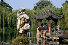西方瓷的湖 图库摄影
