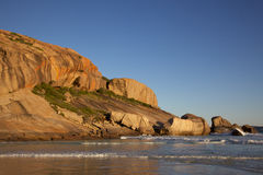 西方的海滩 免版税库存照片