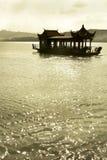 西方的湖 免版税库存照片