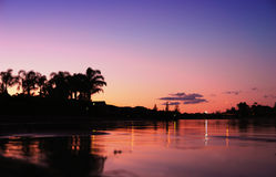 西方的湖 免版税库存图片