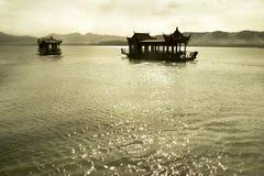 西方的湖 图库摄影