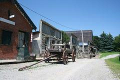 西方老场面的城镇 图库摄影